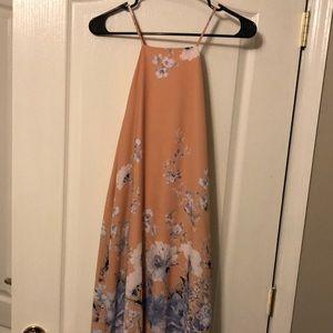 Beautiful peach midi dress